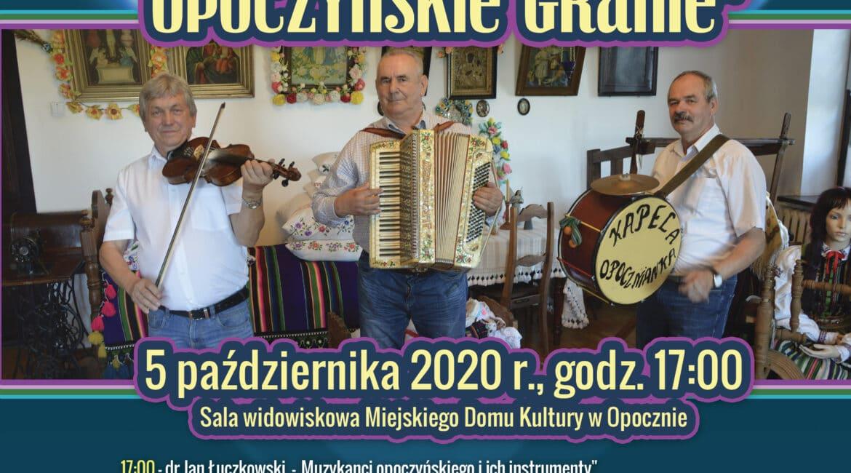 """Zapraszamy na konferencję """"Zagraj mi muzykancie – opoczyńskie granie"""""""